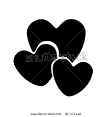 hearts silhouette monochrome silhouette hearts various sizes stock vector 570176440