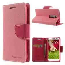 LG G2 Mini Pink Mercury Fancy Wallet Case