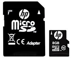 Thẻ Nhớ HP Micro SDHC Class 10 - U1 8GB Up To 40mb/s + Adapter