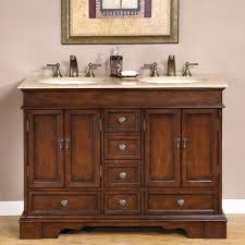 silkroad exclusive baltic brown granite top double sink bathroom vanity with cabinet 48 inch