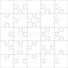 Puzzle Template Vector Blank Puzzle Pieces White Puzzle Piece Clip ...