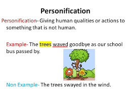 eld identify and describe figurative language ppt video  give non example personification