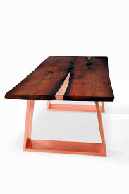 Inlaid Dining Table Luxury Live Edge Dining Table Sarma Modern Dining Table Copper