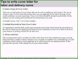Sample Nurse Resume Cover Letter Labor And Delivery Nurse Resume Sample Astonishing Labor And