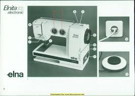 Elna Sewing Machine Manual