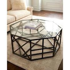 cobblestone hex coffee table save copper hexagonal