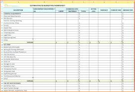 Construction Budgeting Budget Builders Download By Free Home Builders Spreadsheet