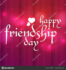 creative vector abstract for happy friendship day with nice and beautiful design ilration