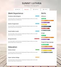 Resume Html Template Inspiration 28 HTML28 Resume Templates Free Samples Examples Format Download