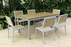 metal and wood patio furniture.  Metal Wood And Metal Dining Set Collection In Outdoor Furniture  Rectangular Patio Table And Metal Wood Patio Furniture Opennowinfo