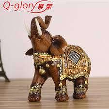 q glory resin home decor figurines elephant statues home