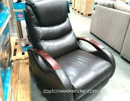 s lane navy blue leather recliner