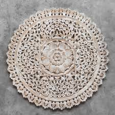 >buy mandala wood carving wall panel decor mandala wall decor online  white wash wall art panel reclaim teak wood from thailand 3x3ft 1 100x100 mandala wood