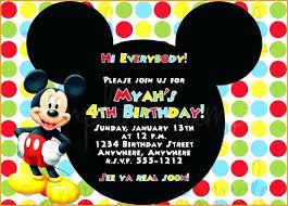 Online Birthday Invitations Templates New Free Mickey Mouse Invitation Template Online Digitalhiten