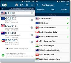 Xe Currency Converter Chart Xe Currency Find Currency Exchange Rates In Android