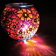 hand painted glass round globe vase bowl wildflower collection