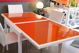 low cost modern expandable glass dining table ikea