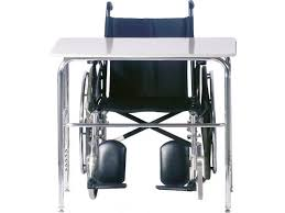 wheelchair accessible school desk hard plastic
