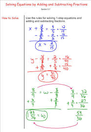 solving equations by adding and subtracting fractions