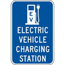 Image result for electric vehicle parking sign