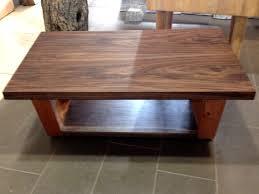 black walnut coffee table solid