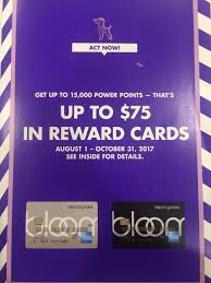 for the months of august september and october if you make 10 purchases at any merchant on your bloomingdales credit card of 25 or more