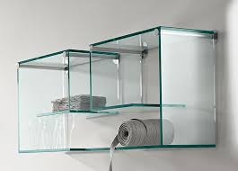 floating glass display shelves glass