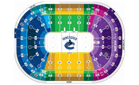 Vancouver Canucks Seating Chart View Tickets Vancouver Canucks Vs Edmonton Oilers Vancouver