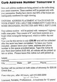 curb number flyer
