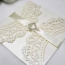 Invitation Card For Dinner Party Lace Wedding Invitations Artificial Diamond Decorating Spring Fall