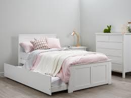 Fantastic Bedroom Suites Kids King Single Trundle White B2C