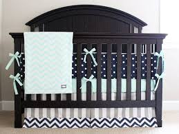 custom crib bedding mint navy and