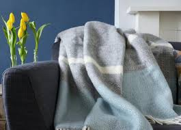 Blue And Gray Throw Blanket