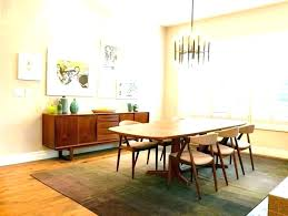 houzz mid century dining room dining table area rug ideas room carpet on mat decorating home