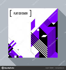 Modern Cd Cover Design Square Futuristic Background Cd Cover With Abstract
