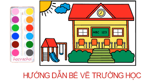 Vẽ ngôi trường của em / vẽ tranh theo chủ đề - YouTube