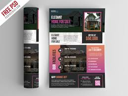 Real Estate Brochure Template Free Free Psd Real Estate Flyer Template Psd By Psd Freebies On