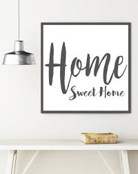 Home Sweet Home Farmhouse Sign - Rustic Wall Decor – Walls of Wisdom