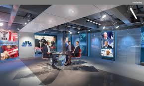 Nbc Design Nbc L4 Newsroom Studio Clickspring Design