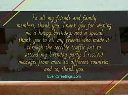 thank you letter for happy birthday wishes