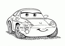 Sally Cars Coloring Page For Kids Disney Coloring Pages Printables