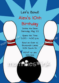 Bowling Invitation Template Free Bowling Party Invitations Templates With Blue Background Colors 1