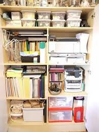 Organized Design Office supply closet For the Home Pinterest