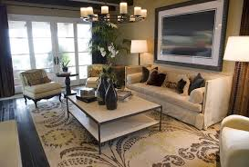 image of pattern living room rug