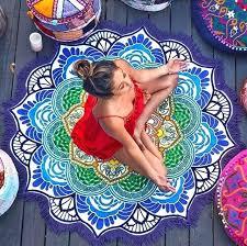 beach throw rugs lotus mandala round blanket rug tapestry tassel beach throw hippie yoga mat table beach throw rugs