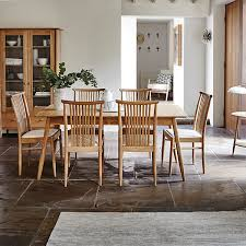 ercol teramo small extending dining table 4 kitchen dining chairs pale oak dining sets dining room