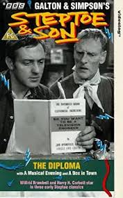 steptoe and son the diploma vhs wilfrid brambell harry  steptoe and son the diploma vhs 1962