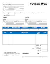 Lpo Template Purchase Order Excel Format Template Sample Form