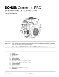 Service Manual Kohler Engines Manualzz Com