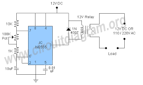 relay flasher circuit circuit diagram relay flasher or blinker circuit schematic